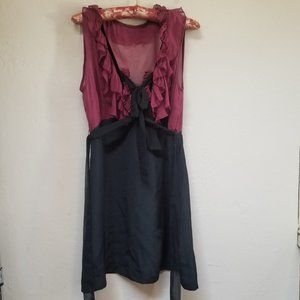Foley + Corinna 100% Silk Sleeveless Ruffle Dress